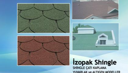 İzopak Shingle Çatı Kaplama (Kırmızı/Yeşil)