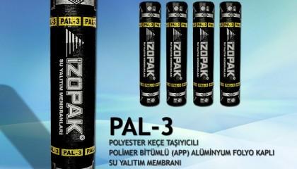 İzopak PAL-3 Polyester Keçe & Alüminyum Folyo Kaplı Su Yalıtım Membranı