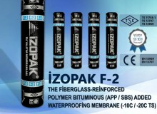 İzopak F-2 The Fiberglass-Reinforced Polymer Bıtumınous (App / Sbs) Added Waterproofing  Membrane (-10c / -20c Ts)