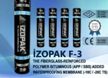 İzopak F-3 The Fiberglass-Reinforced Polymer Bıtumınous (App / Sbs) Added Waterproofing Membrane (-10c / -20c Ts)