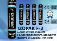 İzopak F-2 La Fibre De Verre Renforcée Polymère Bıtumıneux (App / Sbs) Ajoutée Membrane D'étanchéité (-10c / -20c Ts)
