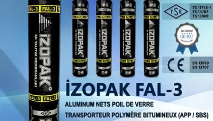 İzopak FAL-3 Alumınum Nets Poıl De Verre Transporteur Polymère Bıtumıneux