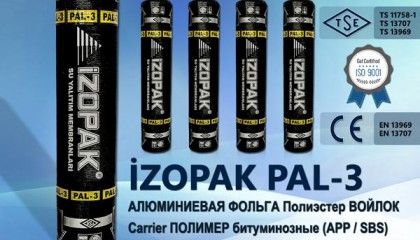 İzopak PAL-3 Алюминиевая Фольга Полиэстер Войлок Carrier Полимер Битуминозные