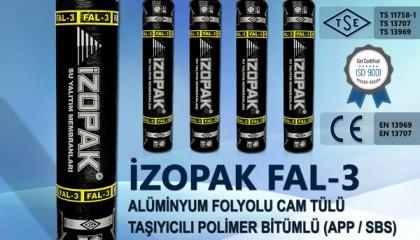 İzopak FAL-3 Alüminyum Folyolu Cam Tülü Taş. Polimer Bitümlü (App / Sbs) Katkılı