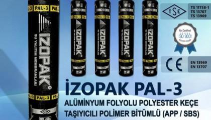 İzopak PAL-3 Alüminyum Folyolu Polyester Keçe Taş. Polimer Bitümlü (App / Sbs) Katkılı