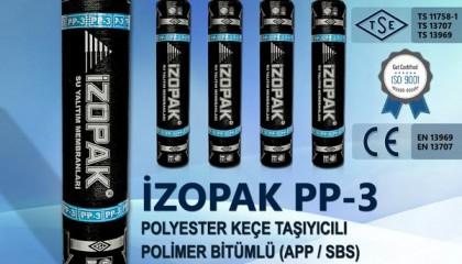 İzopak PP-3 Polyester Keçe Taşıyıcılı Polimer Bitümlü (App / Sbs) Katkılı