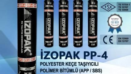 İzopak PP-4 Polyester Keçe Taşıyıcılı Polimer Bitümlü (App / Sbs) Katkılı