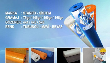 Starfix ve Sistem Mantolama Sıva Filesi