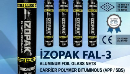 Izopak FAL-3 Aluminum Foil Coated Water Isolation Membrane