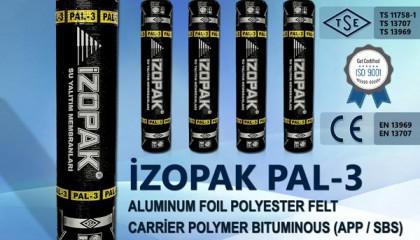 İzopak PAL-3 Alumınum Foıl Polyester Felt Carrier Polymer Bıtumınous (App / Sbs)