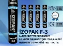 İzopak F-3 La Fibre De Verre Renforcée Polymère Bıtumıneux (App / Sbs) Ajoutée Membrane D'étanchéité (-10c / -20c Ts)