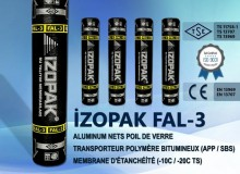 İzopak FAL-3 Alumınum Nets Poıl De Verre Transporteur Polymère Bıtumıneux (App / Sbs) Membrane D'étanchéité (-10c / -20c Ts)