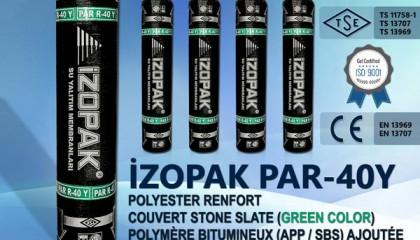 İzopak PAR-40Y Polyester Renfort Couvert Stone Slate (Green Color)