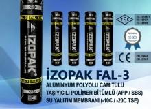 İzopak Fal-3 Alüminyum Folyolu Cam Tülü Taşıyıcılı Polimer Bitümlü (App / Sbs) Su Yalıtım Membranı (-10c / -20c Tse)