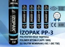 İzopak Pp-3 Polyester Keçe Taşıyıcılı Polimer Bitümlü (App / Sbs) Su Yalıtım Membranı (-10c / -20c Tse)
