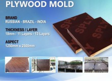 Imported Plywood 18mm (1250 * 2500mm) Film Concrete Mold