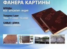 Импортные Фанера 18мм (1250 * 2500) Фильм Plate